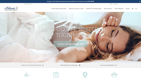 Atlantis Medical Wellness Center Website Example
