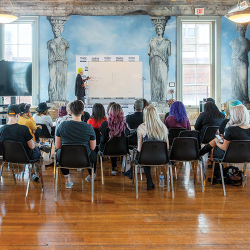 Attendees at Hairdustry and Presley Poe Seminar   DC Event Video and Photography